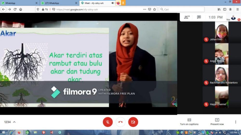 Simulasi pembelajaran daring via google meet
