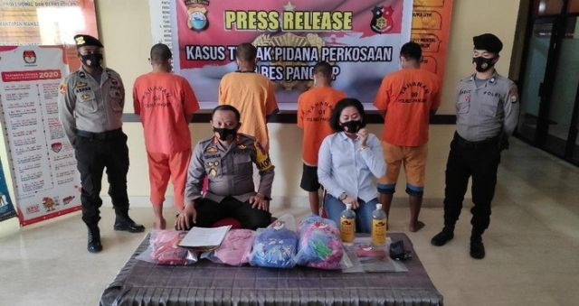Perkosa Wanita Bergiliran Matang Direncanakan, 4 Pria di Sulsel Ditangkap