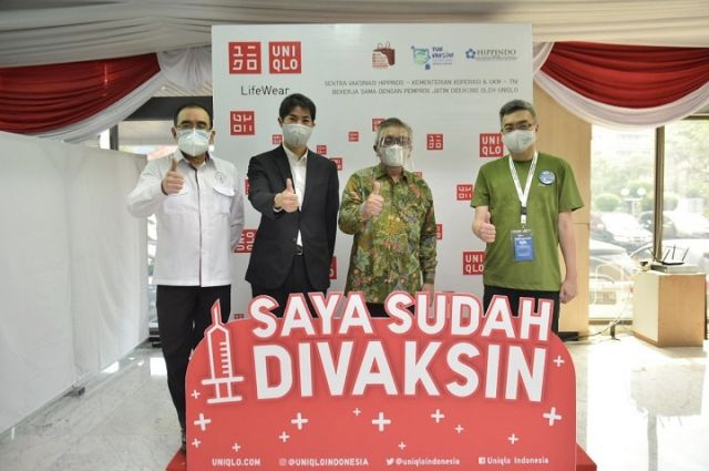 Dukung Percepatan Vaksinasi UNIQLO Indonesia Buka Sentra Vaksinasi di 5 Daerah di Indonesia